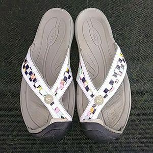 KEEN covered toe flip flop sport sandals